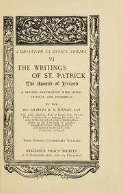 Cover of: The writings of Saint Patrick, the Apostle of Ireland
