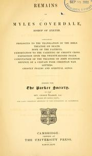 Cover of: Writings and translations of Myles Coverdale, Bishop of Exeter