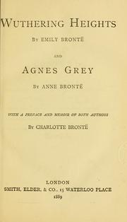 Cover of: Wuthering Heights and Agnes Grey