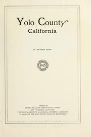 Cover of: Yolo County, California