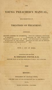 Cover of: The young preacher's manual