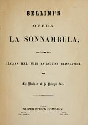 Cover of: Sonnambula