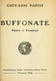 Cover of: Buffonate, Satire e fantasie