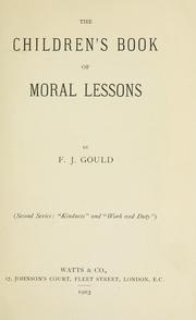 Cover of: The children's book of moral lessons
