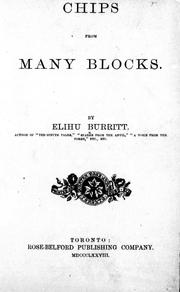 Cover of: Chips from many blocks