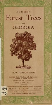 Cover of: Common forest trees of Georgia
