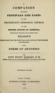 Cover of: A companion for the festivals and fasts of the Protestant Episcopal Church in the United States of America