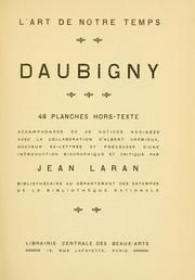 Cover of: Daubigny par Jean Laran