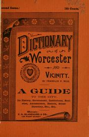 Cover of: Dictionary of Worcester by Franklin Pierce Rice