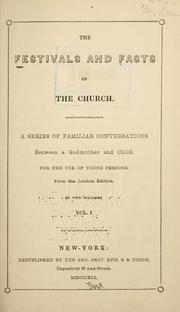 Cover of: The festivals and fasts of the church. |