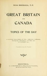 Cover of: Great Britain and Canada