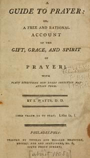 Cover of: A guide to prayer