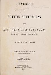 Cover of: Handbook of the trees of the northern states and Canada east of the Rocky mountains