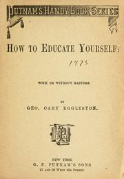 Cover of: How to educate yourself