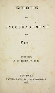 Cover of: Instruction and encouragement for Lent
