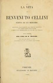 Cover of: La vita di Benvenuto Cellini