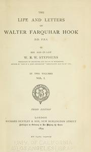 Cover of: The Life And Letters Of Walter Farquhar Hook