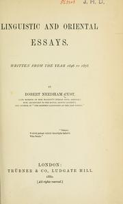 Linguistic and oriental essays by Cust, Robert Needham