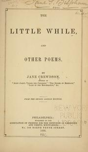 Cover of: little while & other poems. | Crewdson, T. D. Mrs.