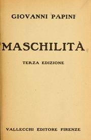 Cover of: Maschilità