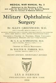 Cover of: Military ophthalmic surgery | Allen Greenwood