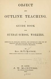 Cover of: Object and outline teaching