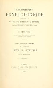 Cover of: Oeuvres diverses
