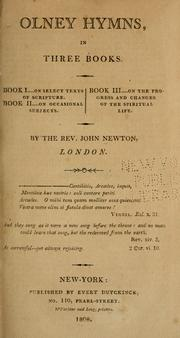 Olney hymns by Newton, John