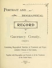 Cover of: Portrait and biographical record of Guernsey County, Ohio |