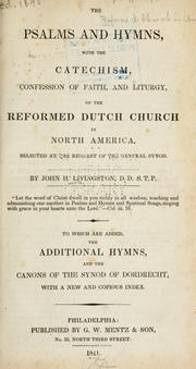 The Psalms and hymns by Reformed Church in America.