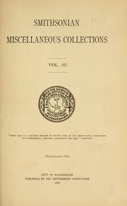Cover of: Smithsonian miscellaneous collections. |