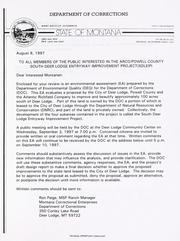 Cover of: South Deer Lodge entryway improvement project environmental assessment |
