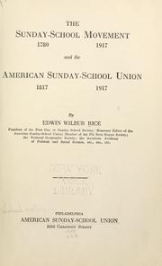 Cover of: The Sunday-school movement and the American Sunday-School Union