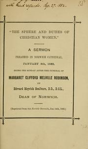 "Cover of: ""The sphere and duties of Christian women"""