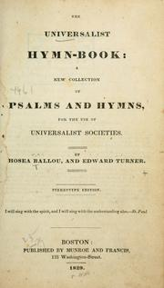 Cover of: The Universalist hymn-book