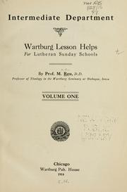 Cover of: Wartburg lesson helps for Lutheran Sunday schools