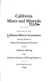 Cover of: California mines and minerals | California Miners