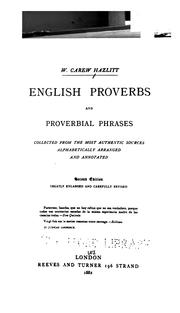 Cover of: English proverbs and proverbial phrases