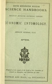 Cover of: Economic entomology