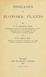Cover of: Diseases of economic plants | Stevens, Frank Lincoln