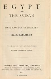 Cover of: Egypt and the Su da n by Karl Baedeker (Firm)