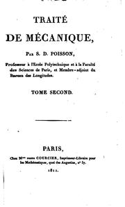 Cover of: Traité de mécanique