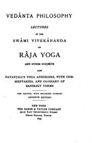 Cover of: Vedanta philosophy