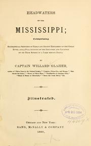 Cover of: Headwaters of the Mississippi | Willard Glazier