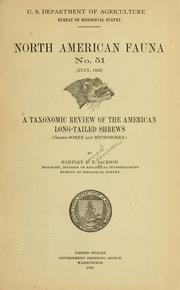 Cover of: A Taxonomic review of American long-tailed shrews | Hartley H. T. Jackson