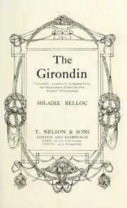 Cover of: The Girondin