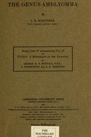 Ticks, a monograph of the Ixodoidea by Nuttall, George Henry Falkiner