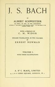 Cover of: J. S. Bach by Albert Schweitzer