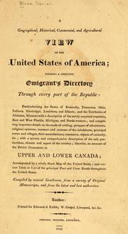 Cover of: A geographical, historical, commercial, and agricultural view of the United States of America by Daniel Blowe