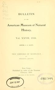 Cover of: The orders of mammals